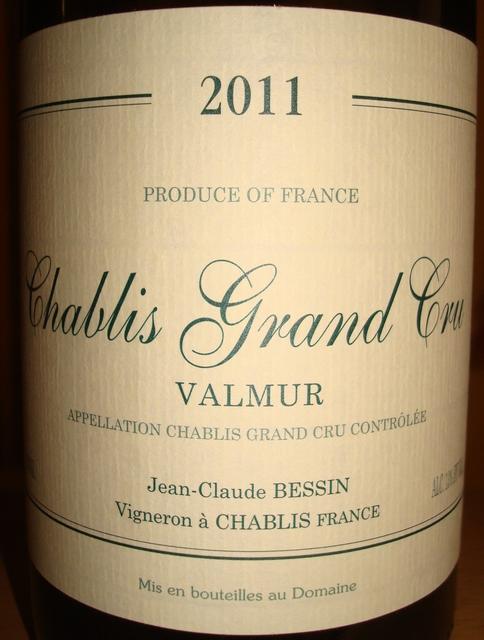 Chablis Grand Cru Valmur Jean Glaude Bessin 2011