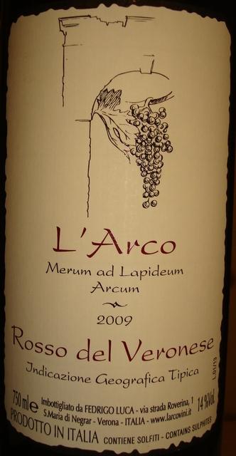 LArco Merum ad Lapideum Arcum Rosso del Veronese 2009