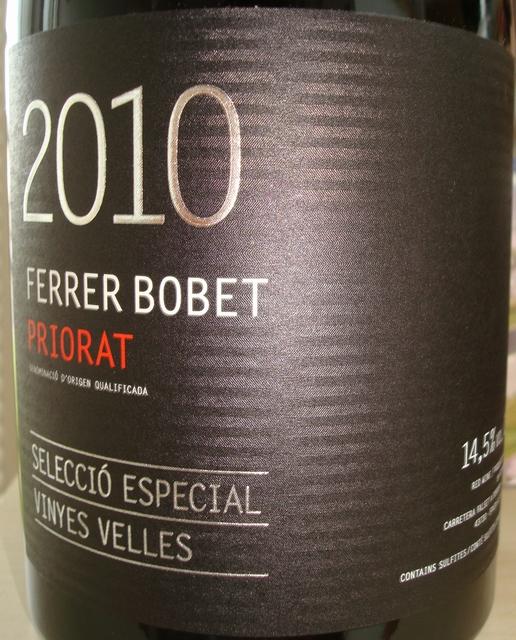 Priorat Ferrer Bobet Seleccio Especial Vinyes Velles 2010