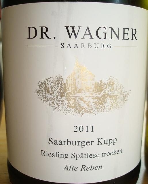 Dr Wagner Saarbufg Saarburger Kupp Riesling Spatlese trocken Alte Reben 2011