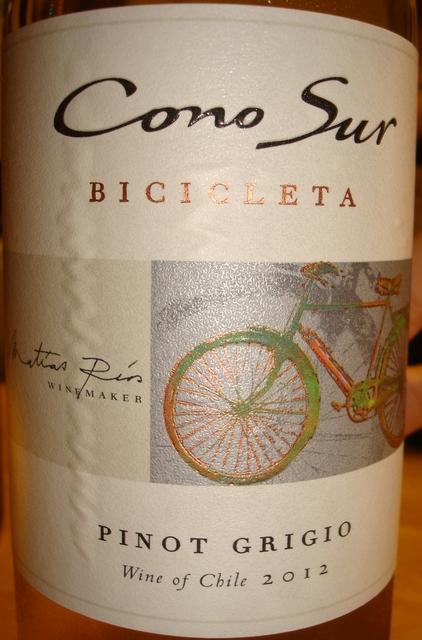 Cono Sur Bicicleta Pinot Grigio 2012