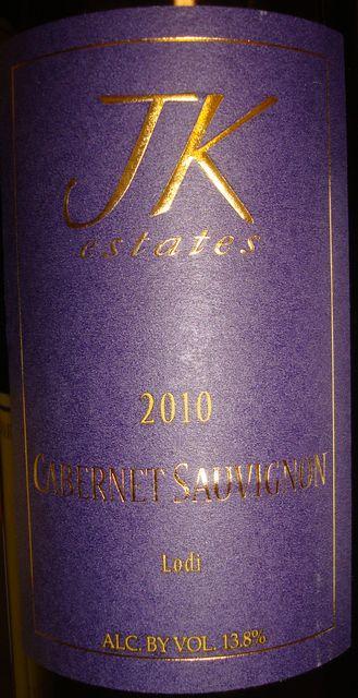 JK estates Cabernet Sauvignon 2010