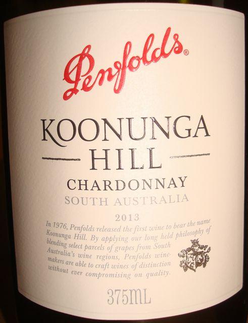 Penfolds Koonunga Hill Chardonnay South Australia 2013