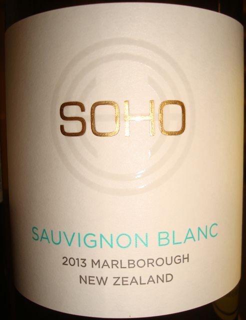 SOHO Sauvignon Blanc Marlborough New Zealand 2013