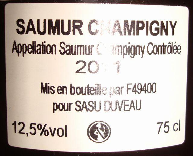 Saumur Champigny Fabien Duveau 2011 Part2