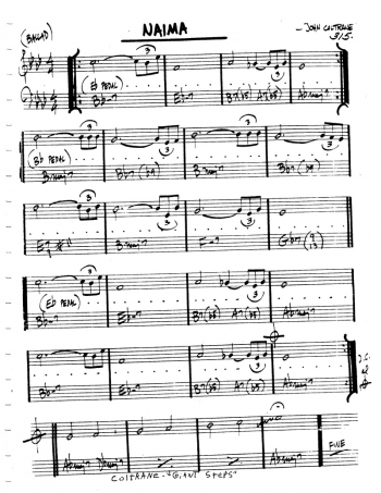 naima 楽譜
