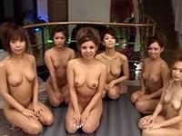 [無修正]6人の美女が1人の男に極上ソープ
