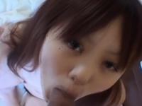 [無修正]涙ホクロがキュートな女の子のフェラチオ動画