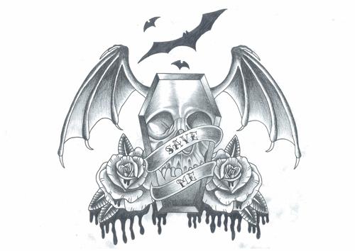 名古屋 タトゥー TATTOO 入れ墨 ドクロ スカル 骸骨