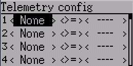 Telemetry config