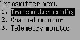 Transmitter Menu