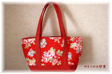 赤いミニトートバッグ①