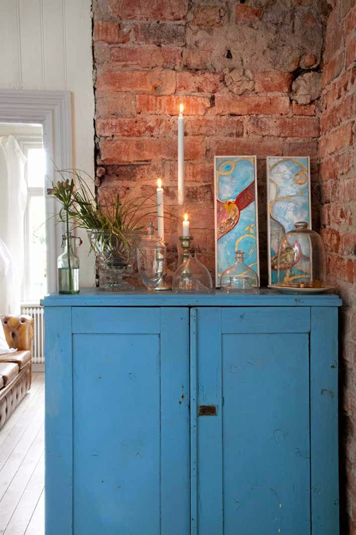 mueble recuperado pintado