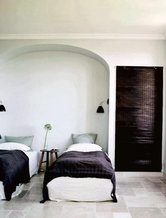 dormitorio doble blanco negro