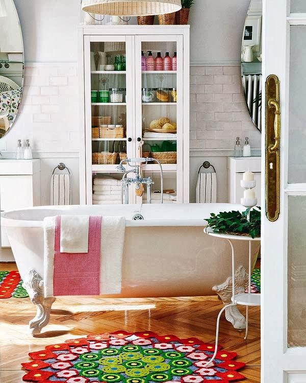 baño vintage bohemio