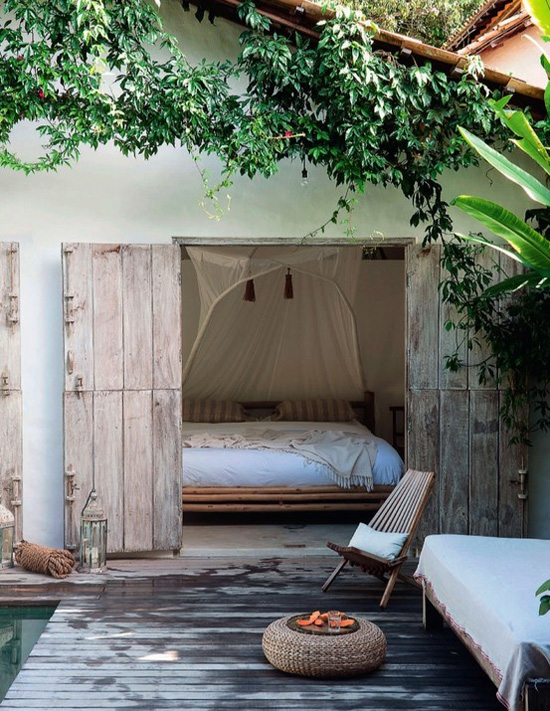 chill out cama jardin