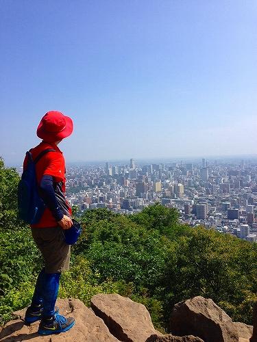 円山山頂から望む札幌市街地