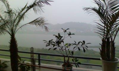 梅雨の大淀川