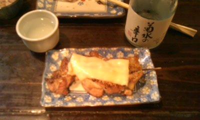 地鶏チーズ焼き
