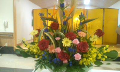 敬老祝賀会花