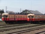 五井駅での小湊鐡道(アート×ミックス車両)