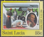 セントルシア・教皇訪問