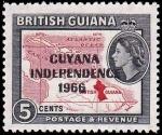 ガイアナ・独立加刷