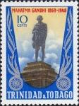 トリニダードトバゴ・ガンジー像