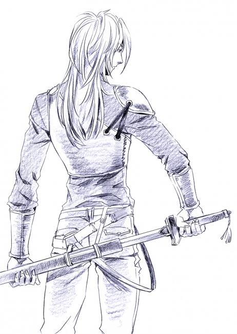 剣の練習の時のクオレとか