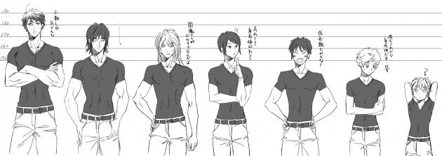幸坊男子 身長比較図
