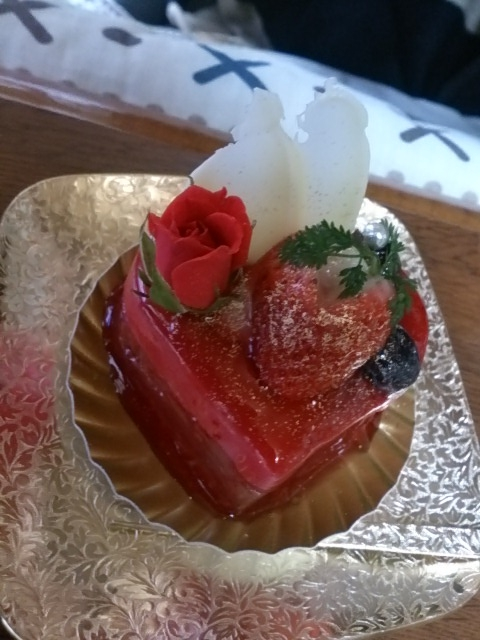 ハートのケーキ2