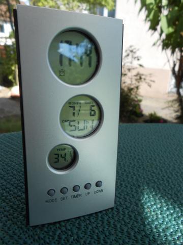 気温34度