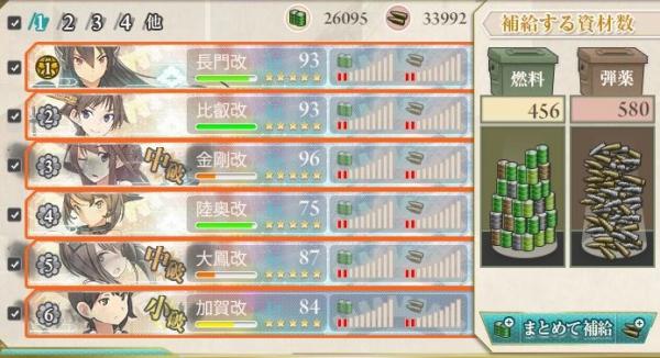 E3戦艦4だとこれだけ食う