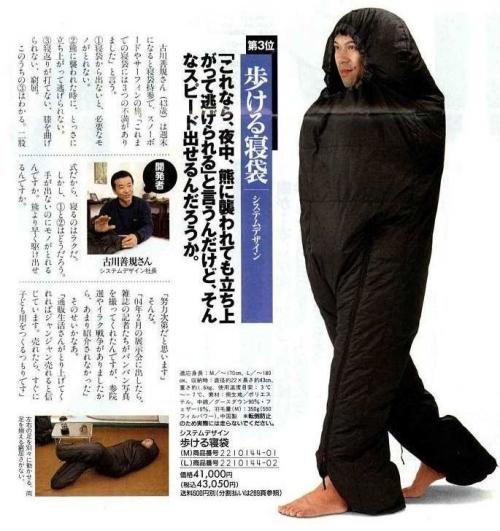 歩ける寝袋 AA(アスキーアート)