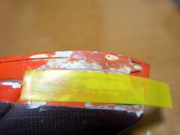 ガイドテープ貼付