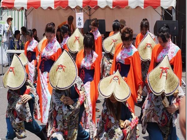 編み笠踊り