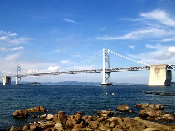遊歩道から瀬戸大橋