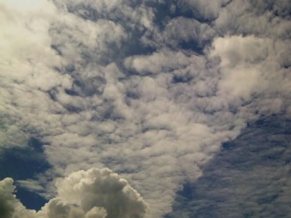 羊雲と入道雲
