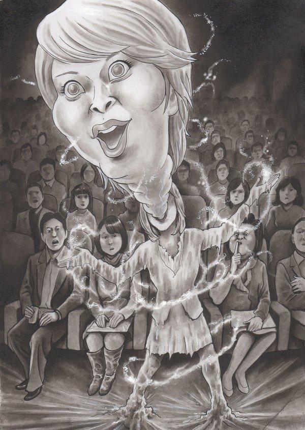 松たか子 アナと雪の女王の風刺漫画