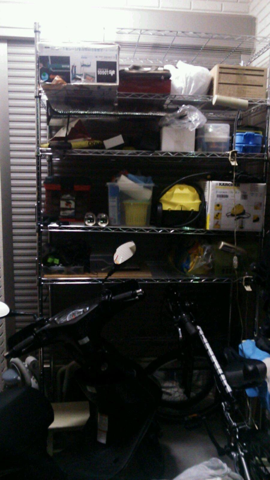 ZX-14Rの居場所のためにガレージ整理