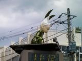 富士急河口湖駅 時計台の謎のキャラ