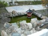 JR大津港駅 ミニ六角堂と池