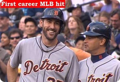 Verlander 1st MLB carreer hit