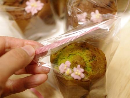 春の花カップケーキ抹茶とチョコ03