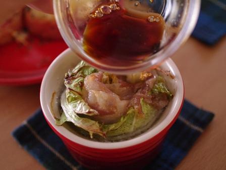 柚子こしょう醤油でいただく豚肉と白菜の鍋風ココット05
