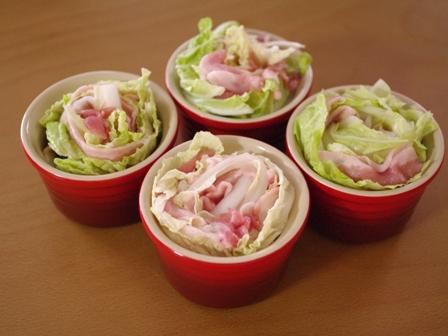 柚子こしょう醤油でいただく豚肉と白菜の鍋風ココット04