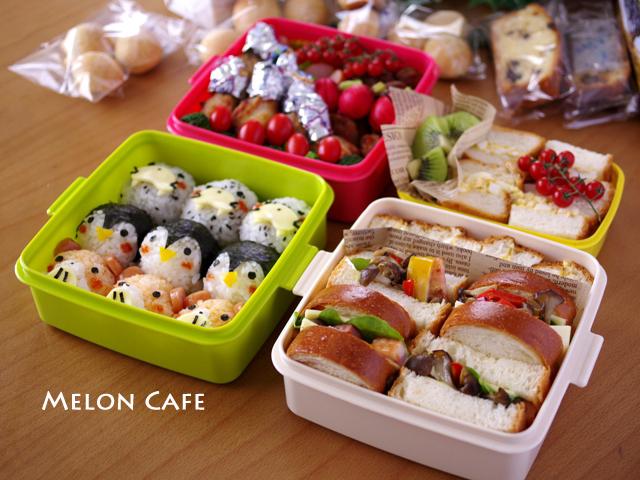 2014年春の運動会のお弁当☆キャラおにぎり&カフェ風