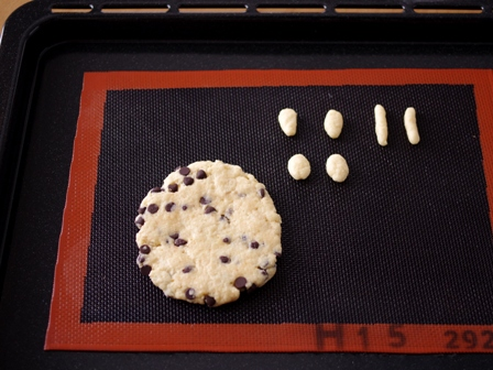 プリンちゃんとおかあさんのキャラおやつ用ホットケーキミックスの超簡単チョコチップクッキー