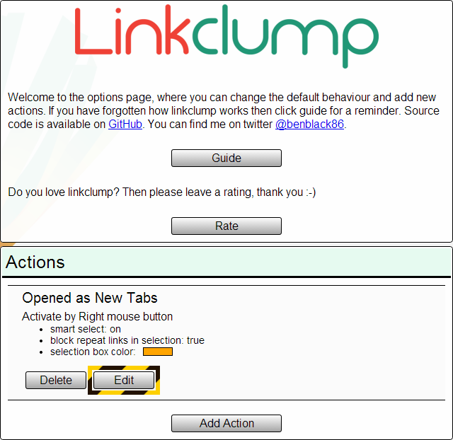Linkclump Option