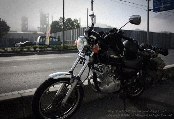 秩父セメントとバイク_GN125H
